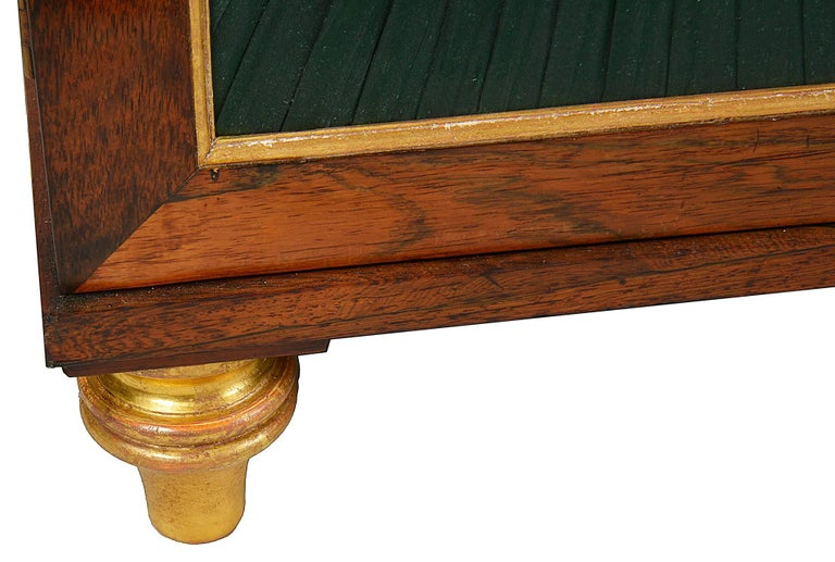 19th Century Regency Period Rosewood Break Fronted Chiffonier or Side Cabinet For Sale