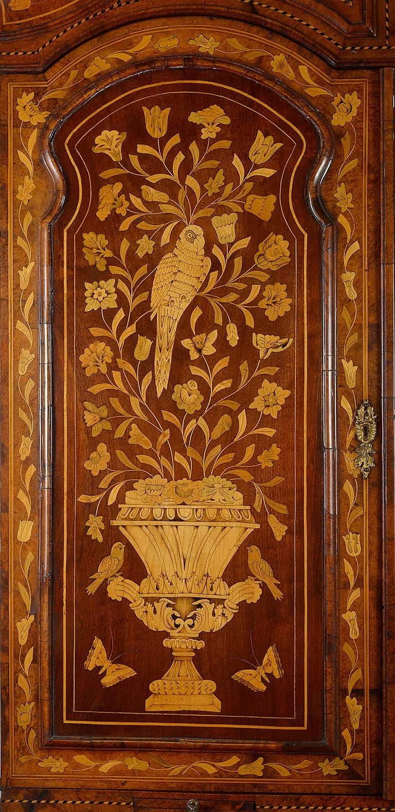 18th Century Dutch Marquetry Bureau Bookcase For Sale 2