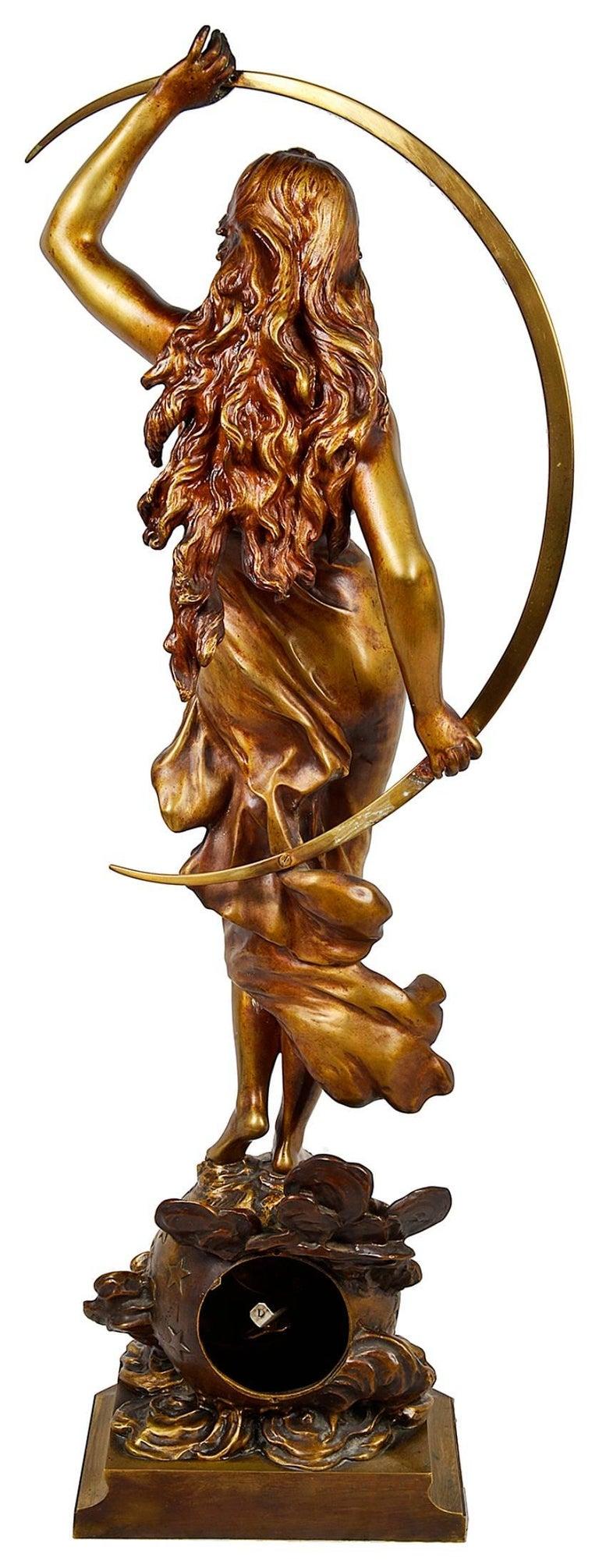 Bronze Statue Of Goddess 39 Selene 39 By August Moreau For