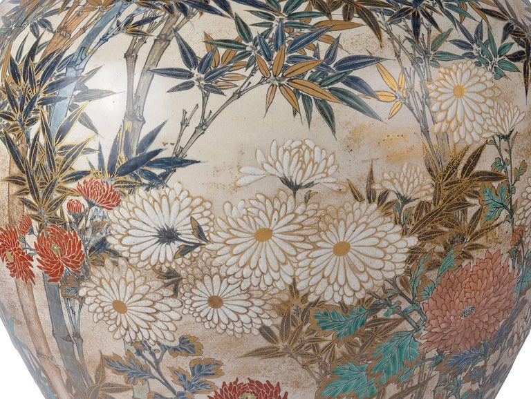 19th Century Large and Impressive Japanese Satsuma Vase For Sale