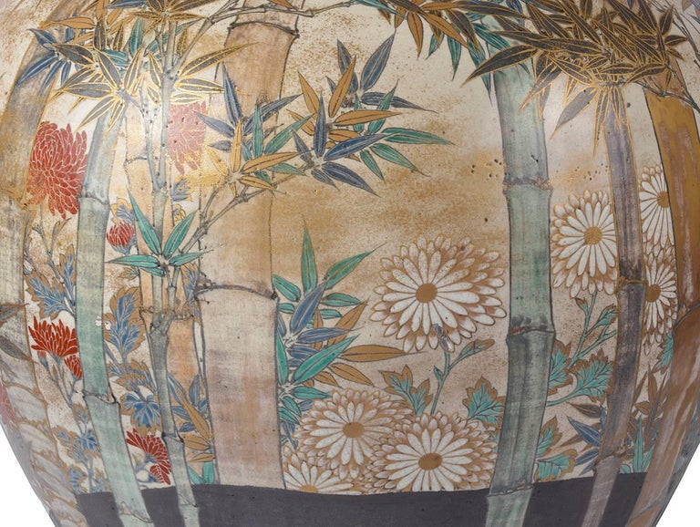 Large and Impressive Japanese Satsuma Vase For Sale 1