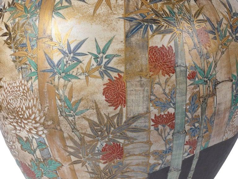 Large and Impressive Japanese Satsuma Vase For Sale 2