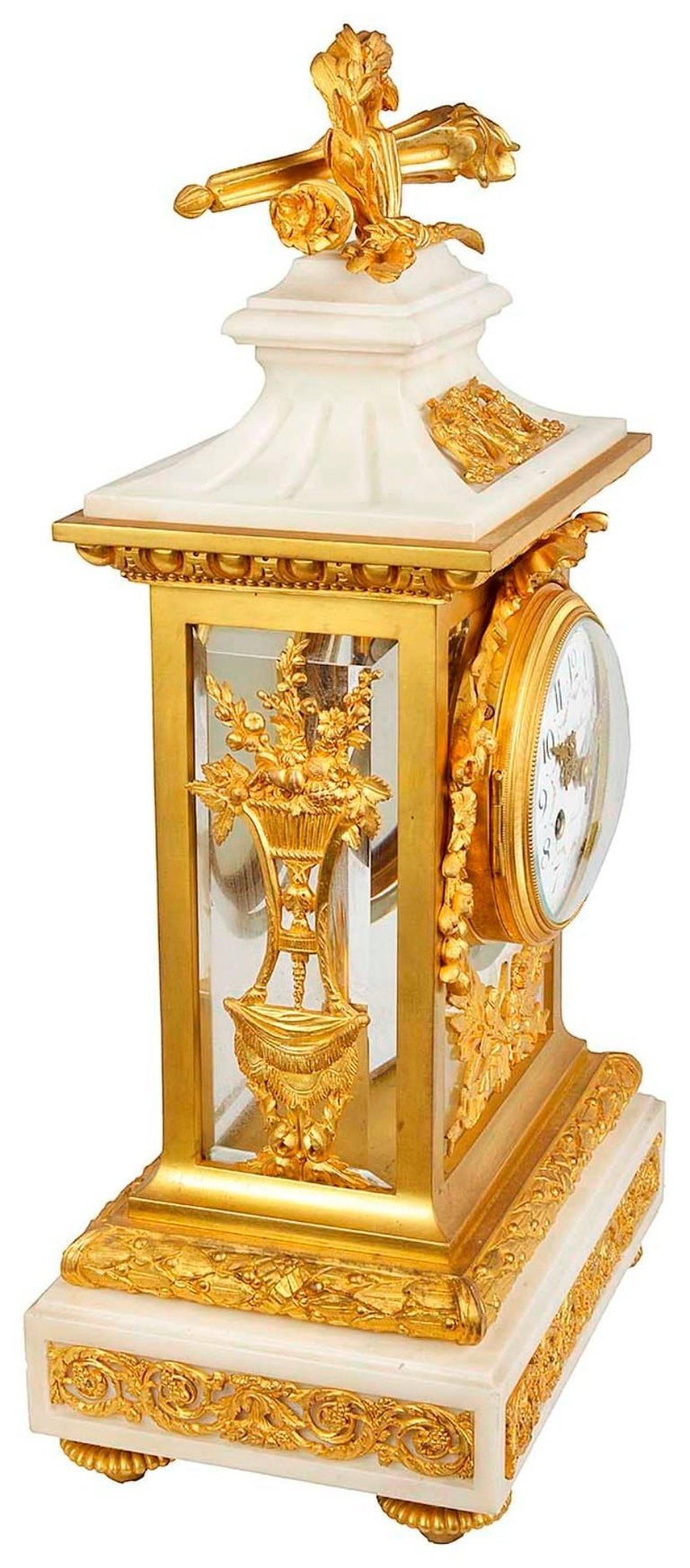 French 19th Century Louis XVI Style Mantel Clock For Sale