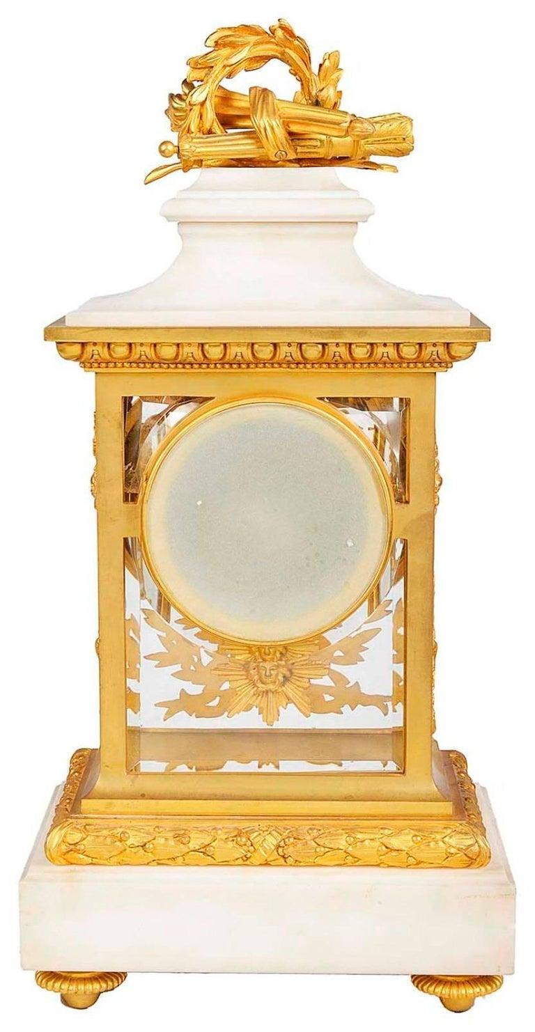 19th Century Louis XVI Style Mantel Clock For Sale 1