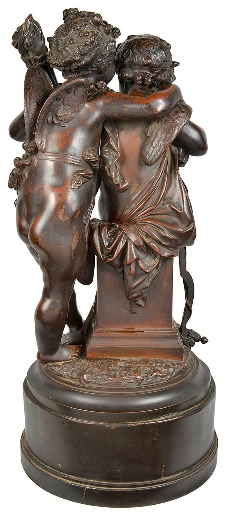 French Carrier-Belleuse Bronze Statue of Cherubs, 19th Century For Sale