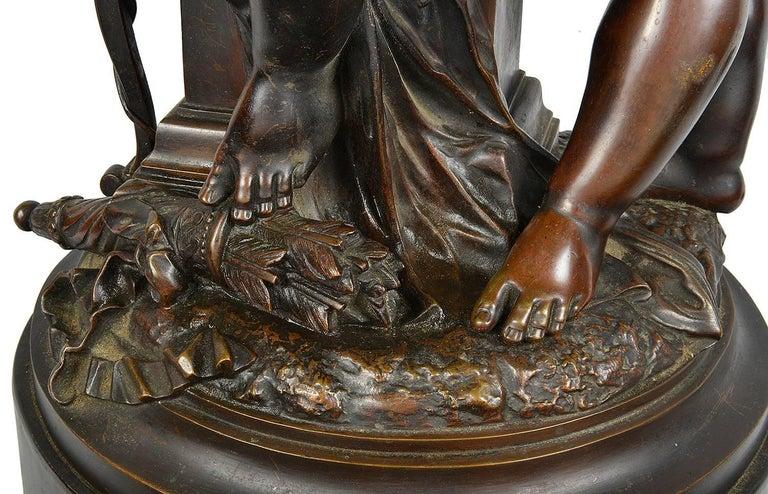 Carrier-Belleuse Bronze Statue of Cherubs, 19th Century For Sale 1
