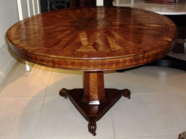 Fruitwood 18th Century Italian Parquetry Centre Table For Sale