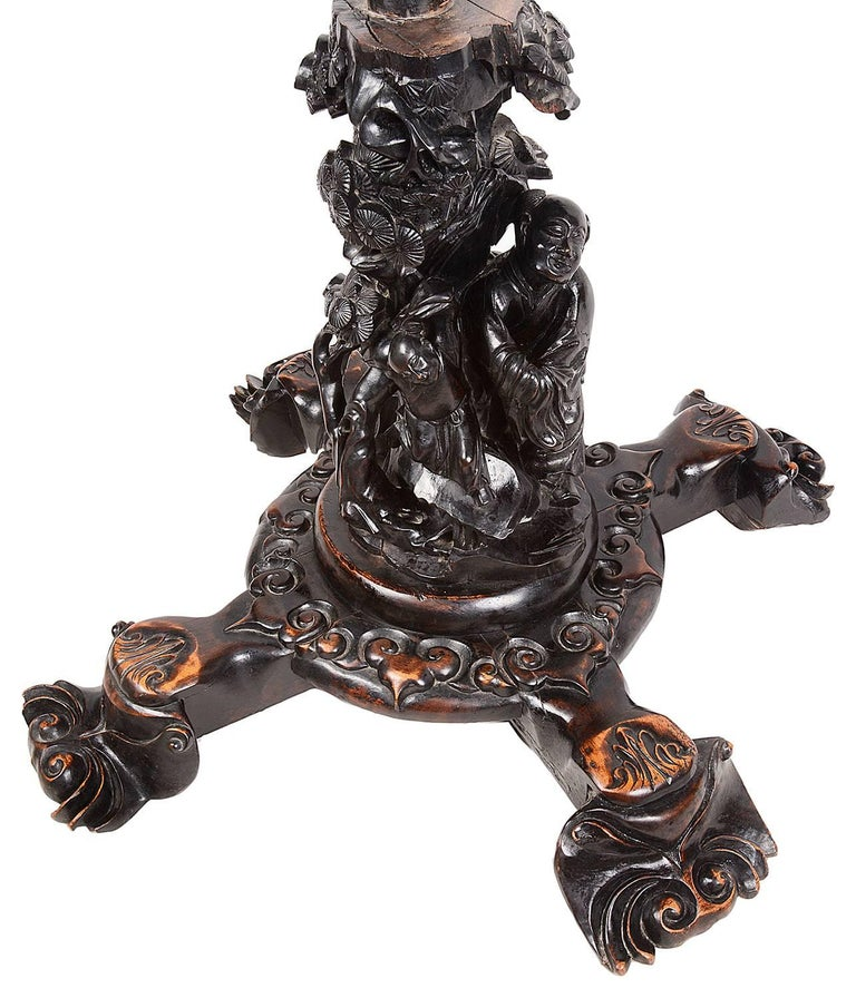Carved 19th Century Chinese Hardwood Centre Table For Sale