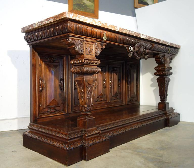19th Century Large Tuscan Renaissance Style Entry Console