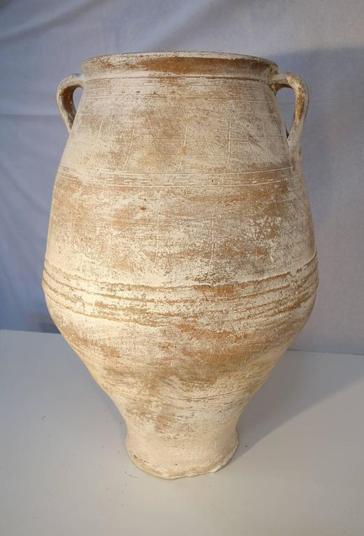 Mediterranean Antique White Pottery Amphora At 1stdibs