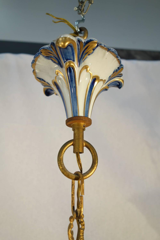 Vintage Italian Porcelain Capodimonte Little Chandelier