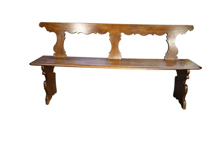 18th Century Antique Italian Tuscan Bench 2
