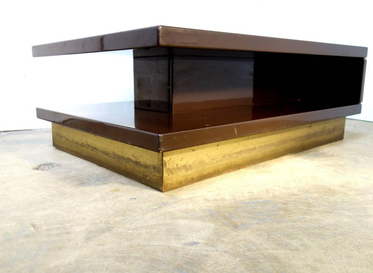 Brass Mid-Century Italian Occasional Tables 1970s For Sale