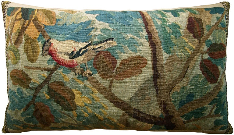 Brussels Baroque tapestry pillow, circa 17th century 1710p.