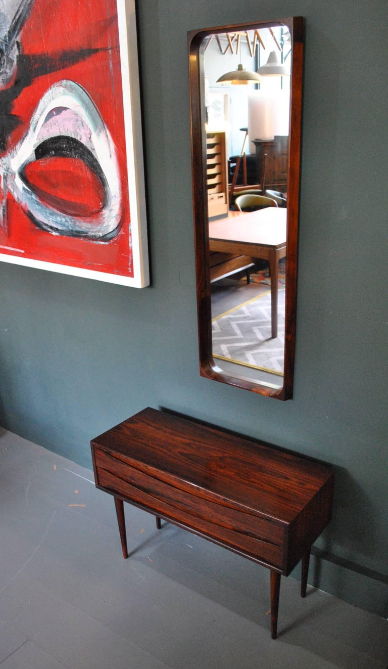 Danish Arne Vodder Chest of Drawers and Mirror For Sale