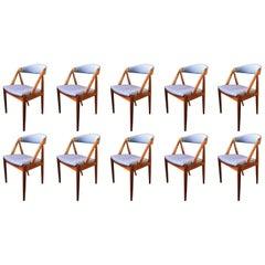 Kai Kristiansen Rosewood Model 31 Chairs, Reupholstered, Set of 12