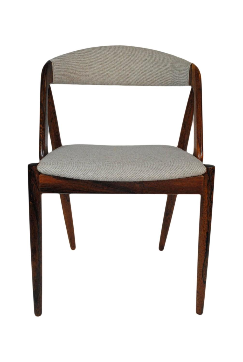 Kai Kristiansen Brazilian Rosewood Dining Chairs Set Of Four At 1stdibs