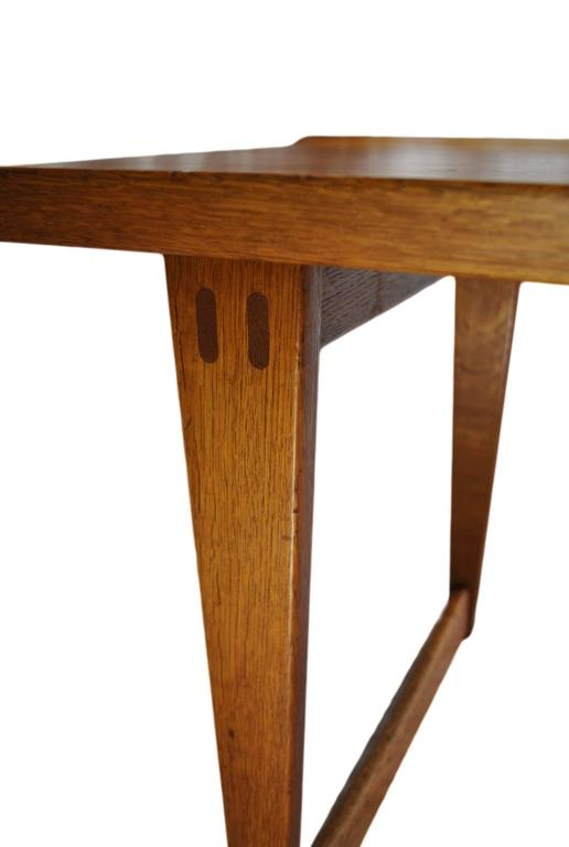A very rare 1950s coffee table designed by Yngve Ekström for Westbergs, Sweden. Excellent condition. Constructed in Oak and Teak. U.S shipping.