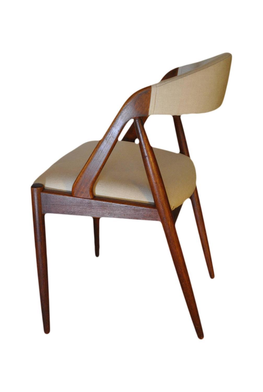 Kai Kristiansen Dining Chairs Set Of Four Re Upholstered Teak At 1stdibs