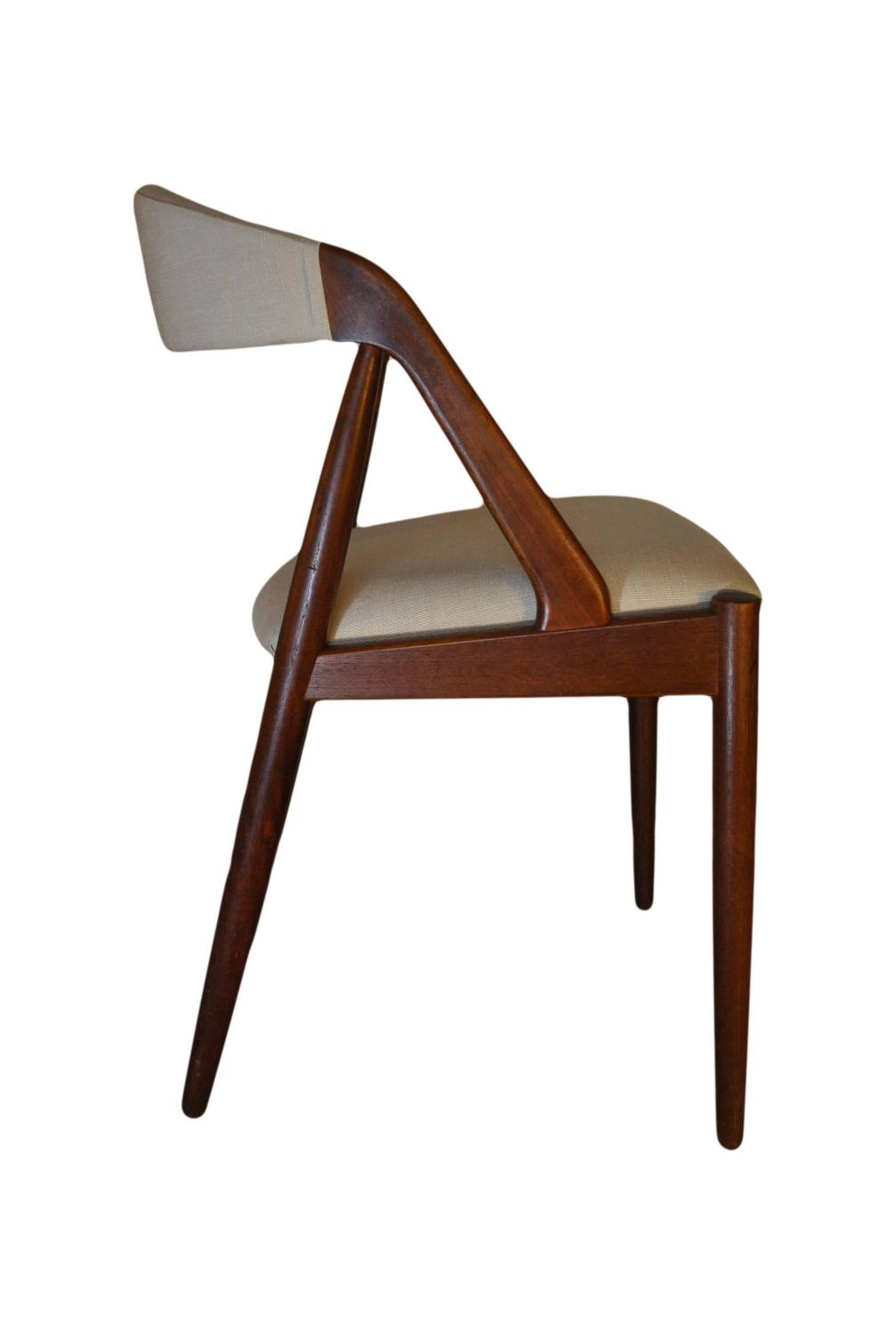 Kai kristiansen dining chairs set of four re upholstered teak at 1stdibs - Kai kristiansen chairs ...