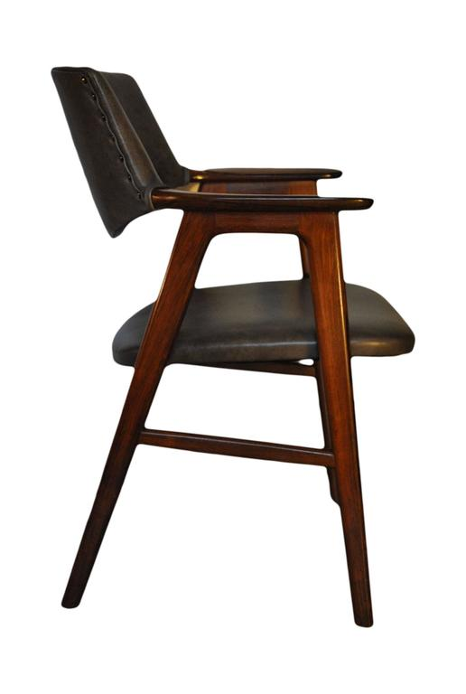Erik Kirkegaard, Set of Four Chairs in Palisander and Leather 3