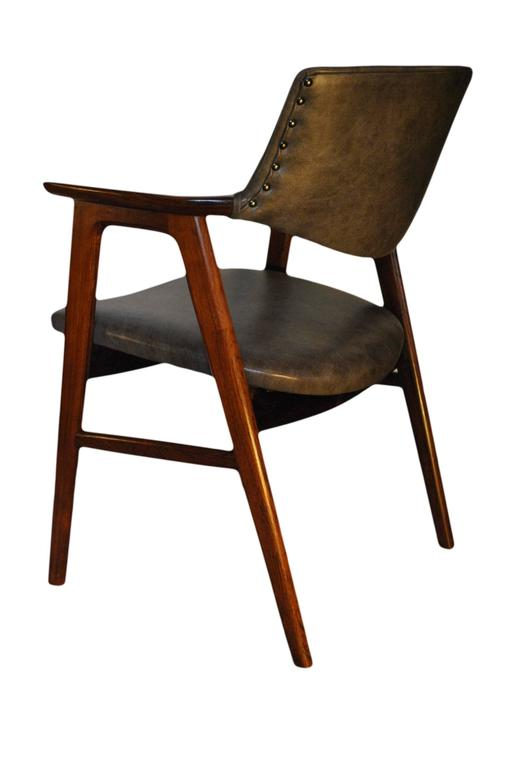 Erik Kirkegaard, Set of Four Chairs in Palisander and Leather 6