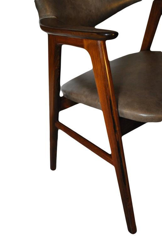 Erik Kirkegaard, Set of Four Chairs in Palisander and Leather 9