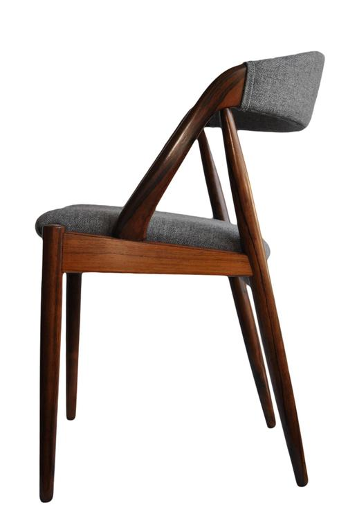 Danish Set of Four Rosewood Kai Kristiansen Dining Chairs For Sale