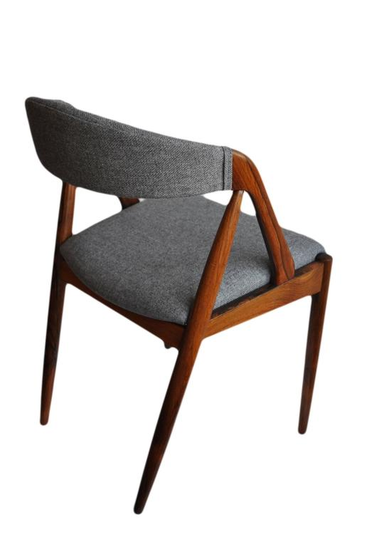 Set of Four Rosewood Kai Kristiansen Dining Chairs In Excellent Condition For Sale In London, GB