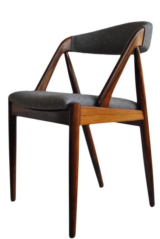 Set of Four Rosewood Kai Kristiansen Dining Chairs For Sale 1