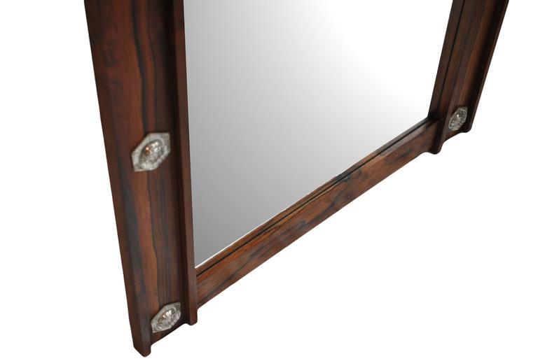 Large Danish Mid-Century Mirror 2