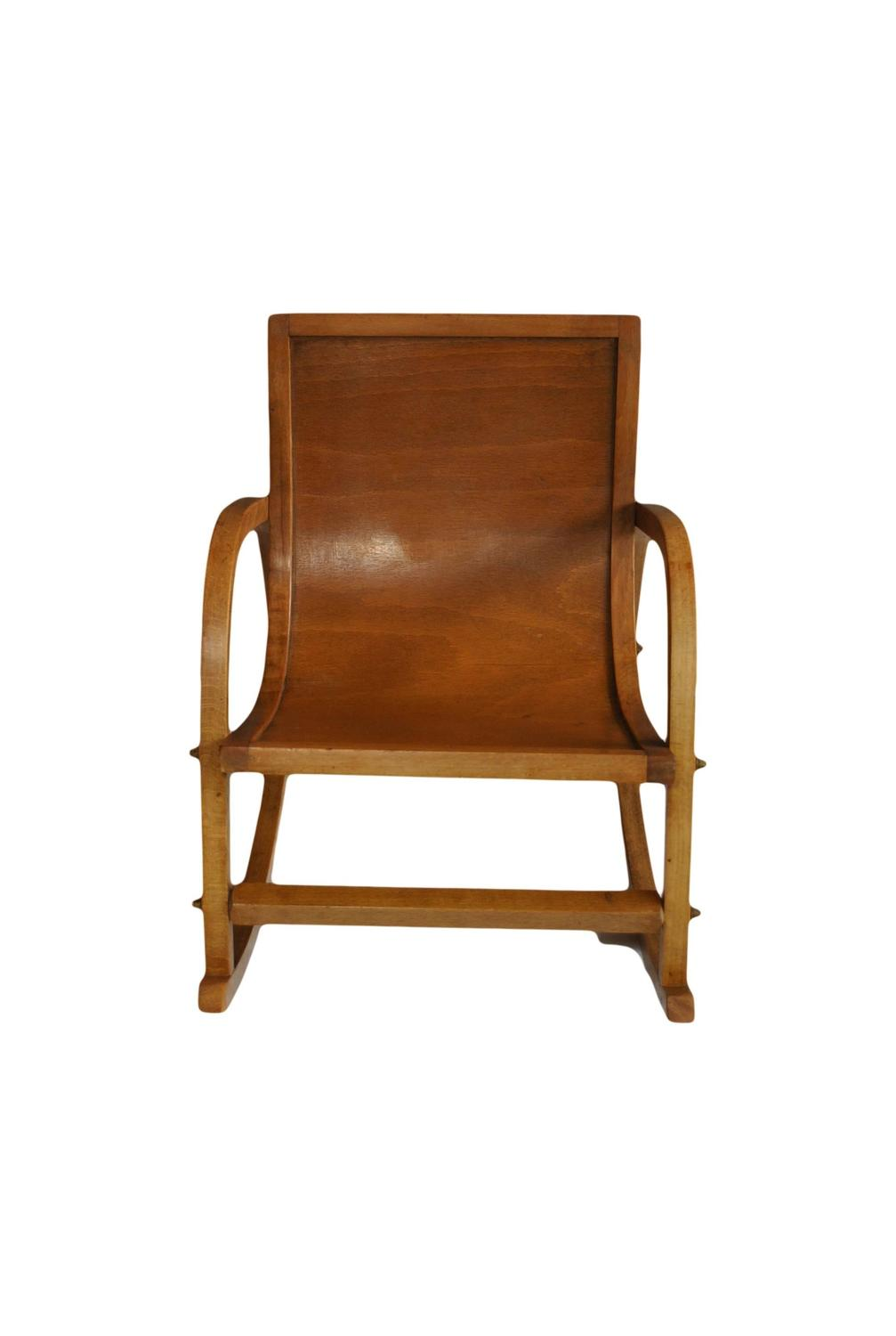 Mid-Century Childs Rocking Chair For Sale at 1stdibs