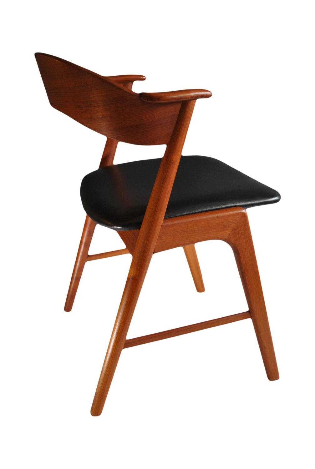 Kai kristiansen teak and leather dining chairs set of 10 at 1stdibs - Kai kristiansen chairs ...