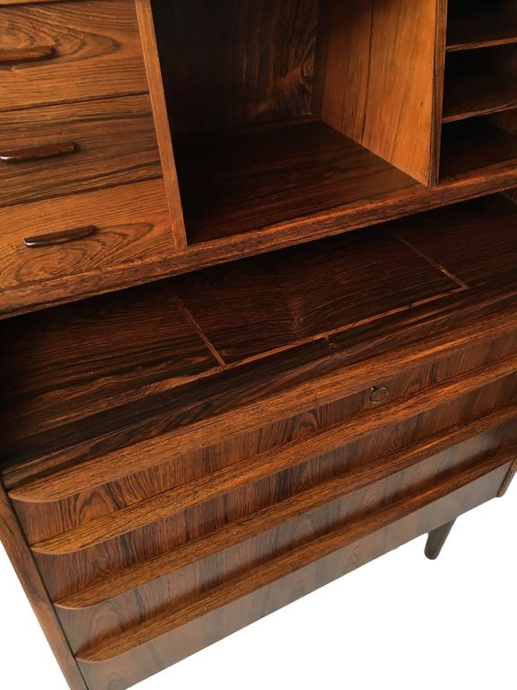 danish craftsman mid century bureau secretaire 1960s at. Black Bedroom Furniture Sets. Home Design Ideas