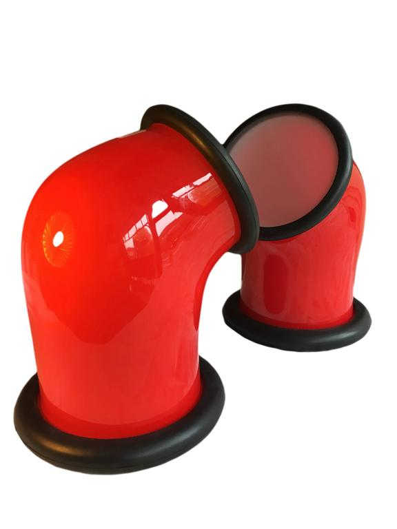 Pair of Holmegaard 'epoke 1' Lamps by Michael Bang, 1972 In Excellent Condition For Sale In London, GB