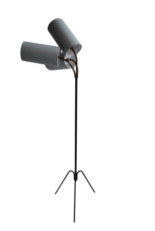 20th Century Unique Danish Midcentury Tripod Floor Lamp For Sale