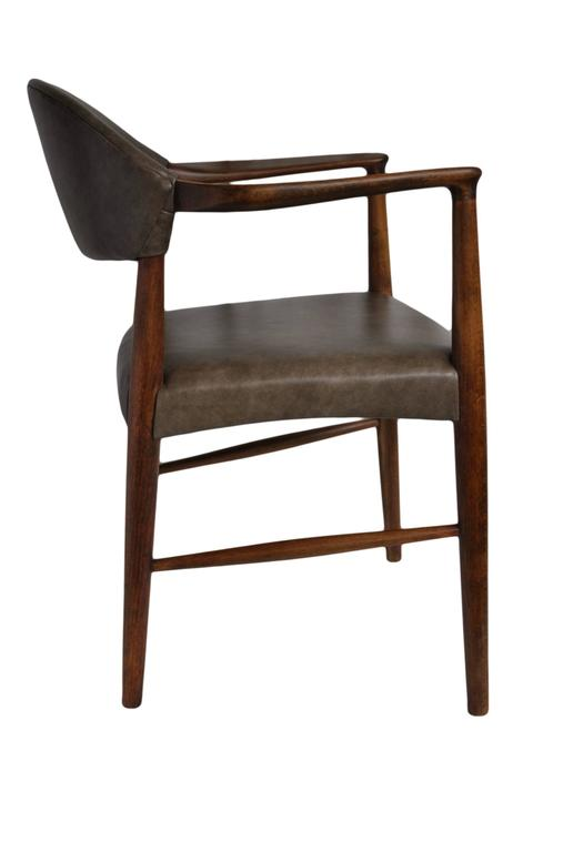Danish Kurt Olsen Chair, fully refurbished and with new Italian Leather For Sale