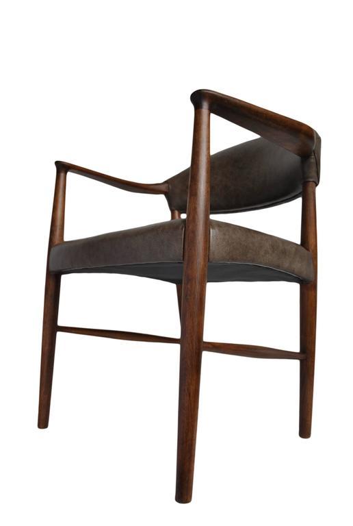 Kurt Olsen Armchair, fully restored in Italian Leather For Sale 2