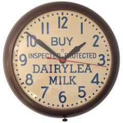 1950s Dairylea Milk Advertising GE Wall Clock