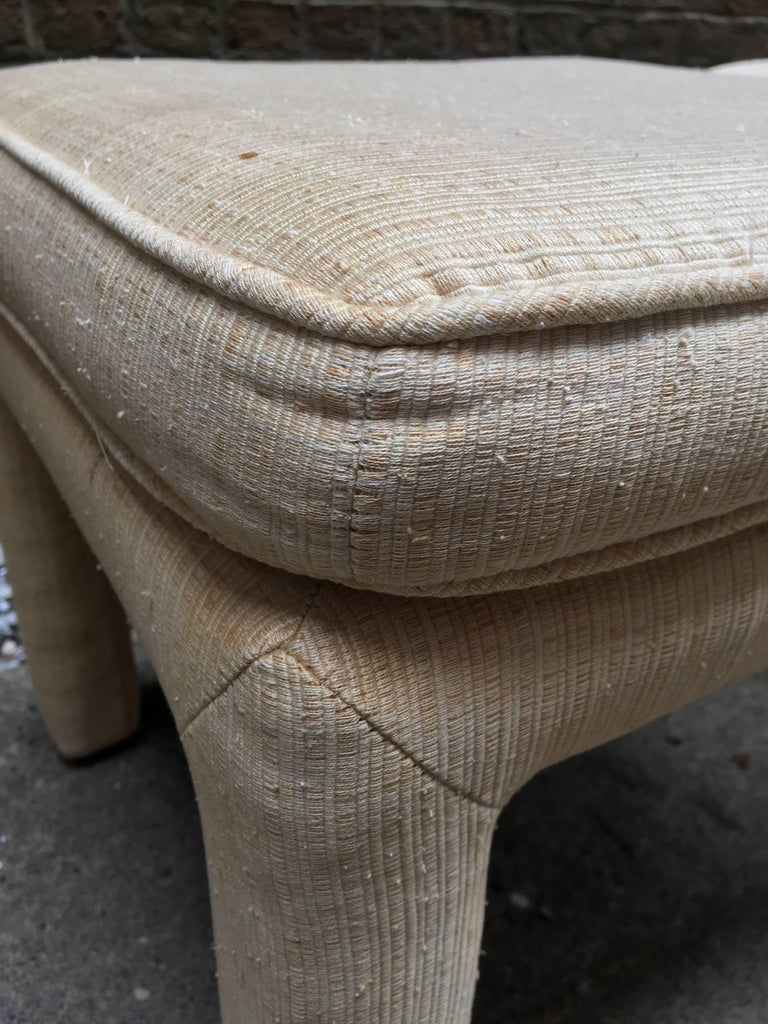Upholstery 1970s Pair of Upholstered Parsons Stools For Sale