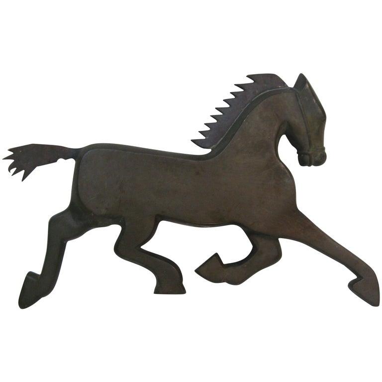 Art Deco Bronze Horse Fragment