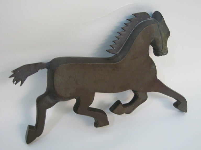 Art Deco Bronze Horse Fragment In Good Condition For Sale In Garnerville, NY