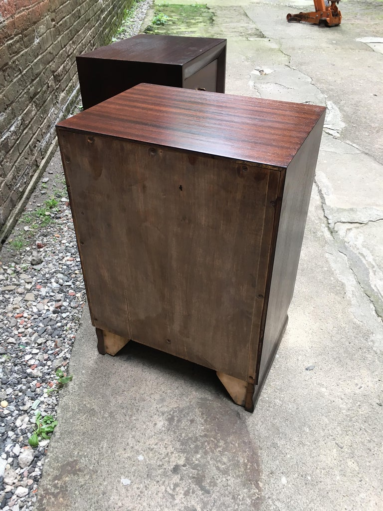 Pair of Charles Furniture Mahogany End Tables For Sale 5