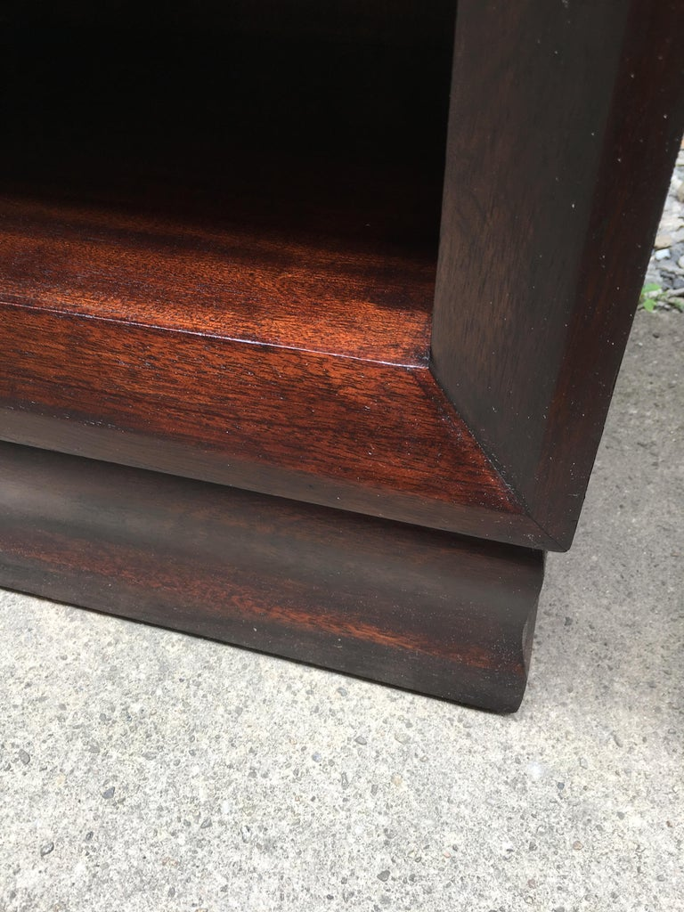 Pair of Charles Furniture Mahogany End Tables For Sale 2