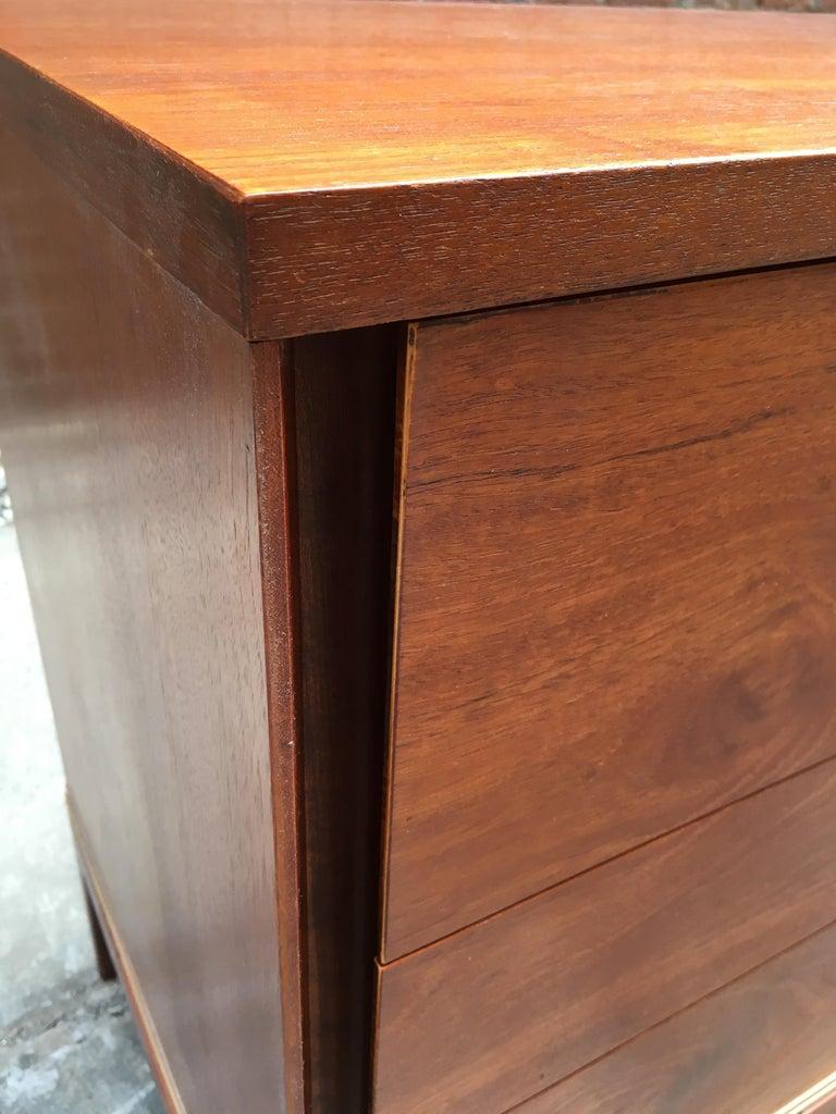 Pair of Teak and Brass John Stuart Dressers For Sale 3