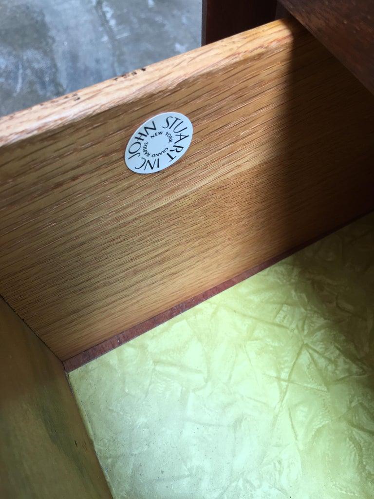Pair of Teak and Brass John Stuart Dressers For Sale 6