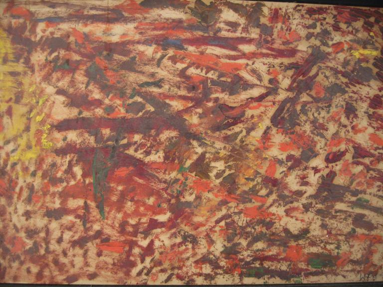 Wigs Frank 1965 Abstract Expressionist Painting In Good Condition For Sale In Garnerville, NY