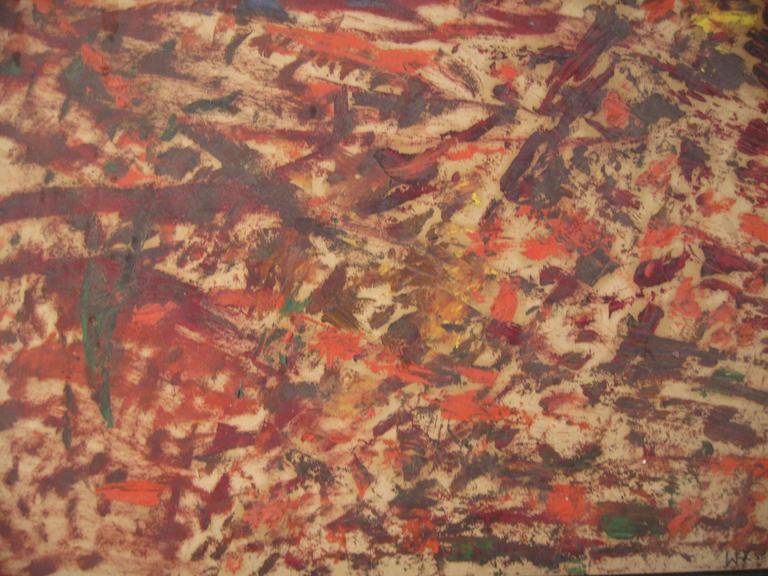 Mid-20th Century Wigs Frank 1965 Abstract Expressionist Painting For Sale