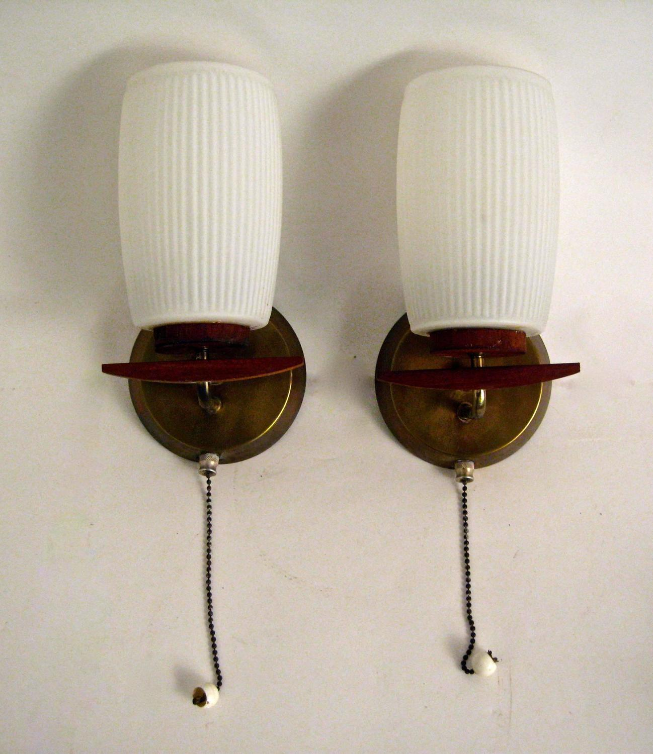 Wall Sconces Mid Century Modern : Mid-Century Modern German Sconces For Sale at 1stdibs