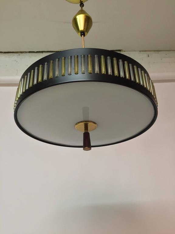 Mid Century Modern Globe Flying Saucer Pendant Light Fixture For